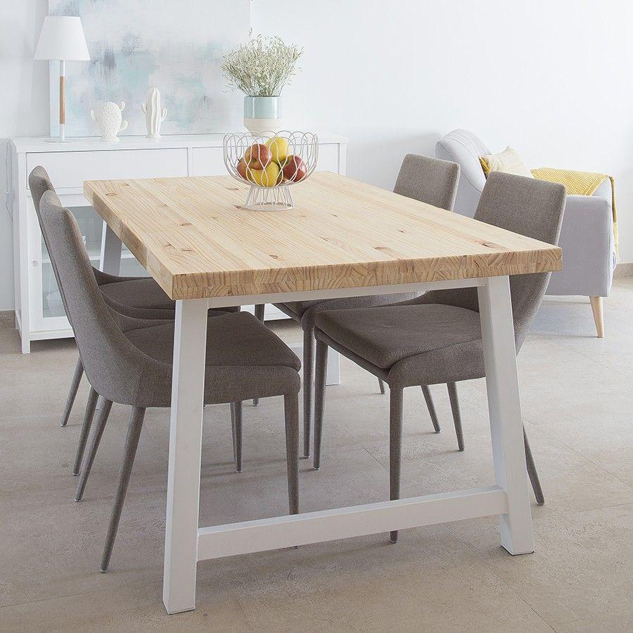 Laur silla tapizada gris | Mesas de comedor, Mesas y sillas ...