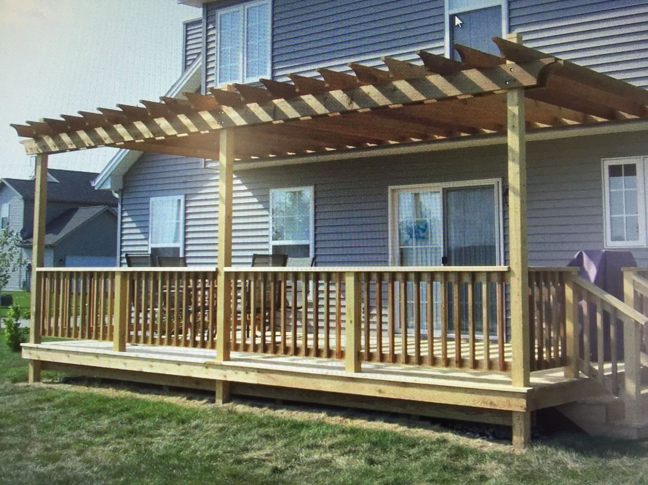 Pergola With Posts In Handrail Outdoor Pergola Pergola Patio