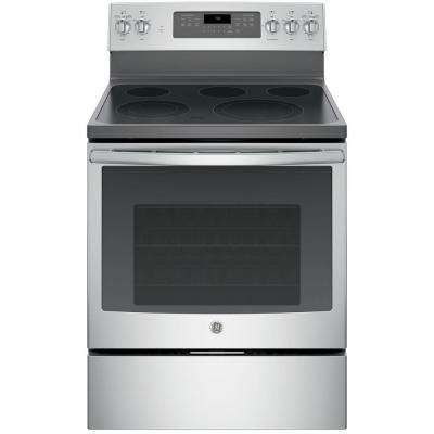 Winner Winner Home Depot 5 3 Cu Ft Electric Range With Self Cleaning Convection Oven In Stainl Convection Range Freestanding Electric Ranges Electric Range
