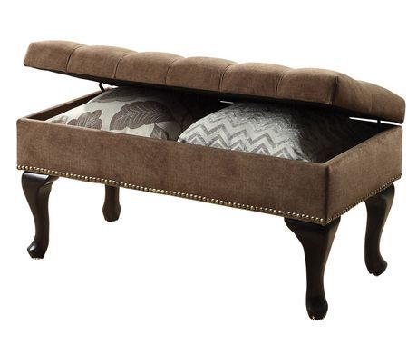 Admirable Lexi Storage Ottoman Brown Available From Walmart Canada Caraccident5 Cool Chair Designs And Ideas Caraccident5Info