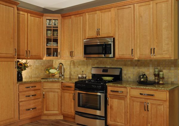 Merveilleux Solid Wood Cabinets   Honey Maple