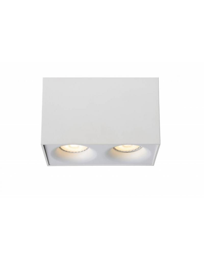 Led Lampen Voor Spotjes Design Plafondspot Led Wit Grijs Gu10 2x4 5w In 2019 Design