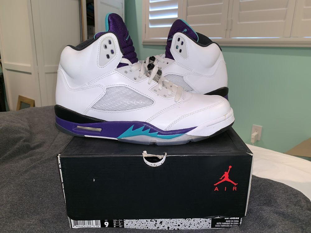 Nike Air Jordan 5 V Retro Grape Size 9