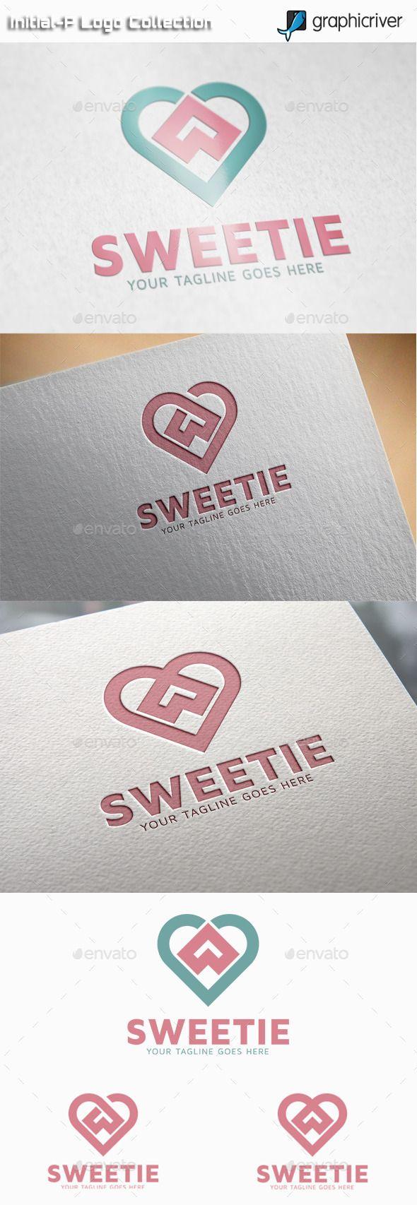 Sweetie Sweet Heart Logo Design Template Vector