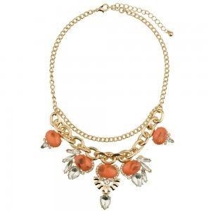 Coral mermaid necklace