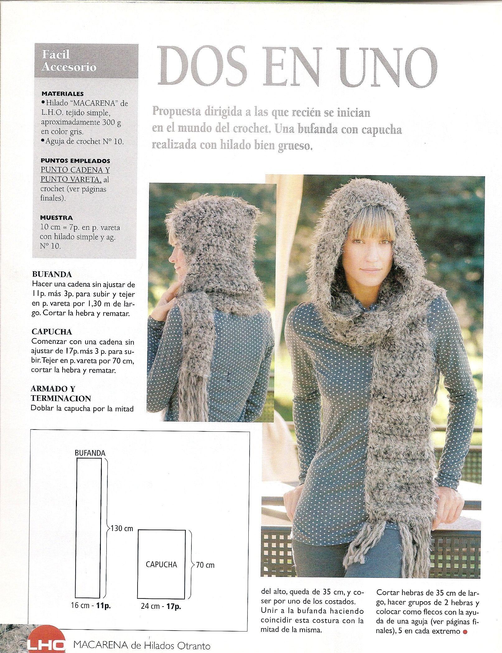 Gorro y bufanda a crochet | facebook | Pinterest | Tejido, Gorros y ...