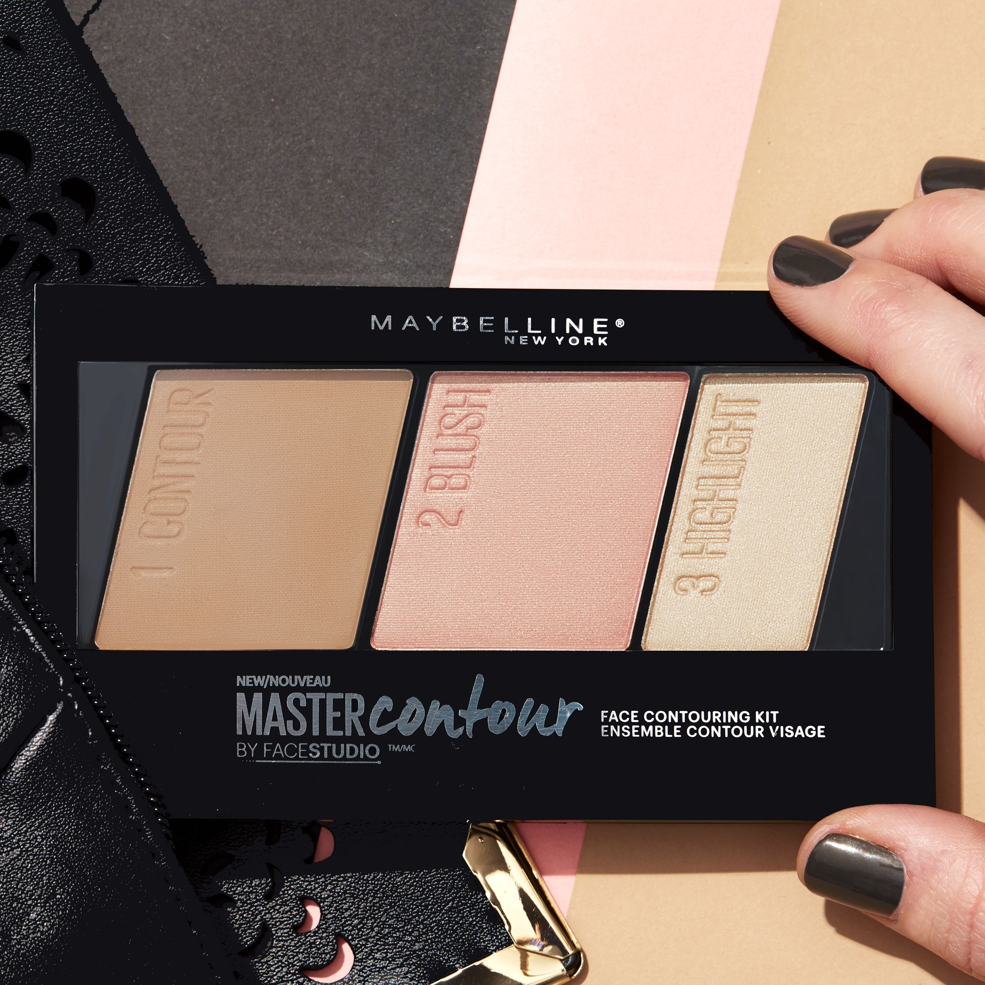 5a880cde6f7 The perfect on-the-go palette for a natural looking contour this spring. Maybelline  Master Contour palette contains all you need for a sculpted, ...