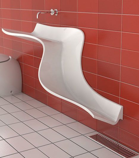 interiors - Bathroom Tiles Red