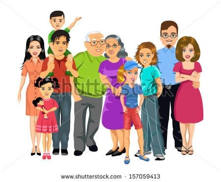 big happy family clipart happy family clipart pinterest happy rh pinterest com big family clipart black and white big family tree clipart