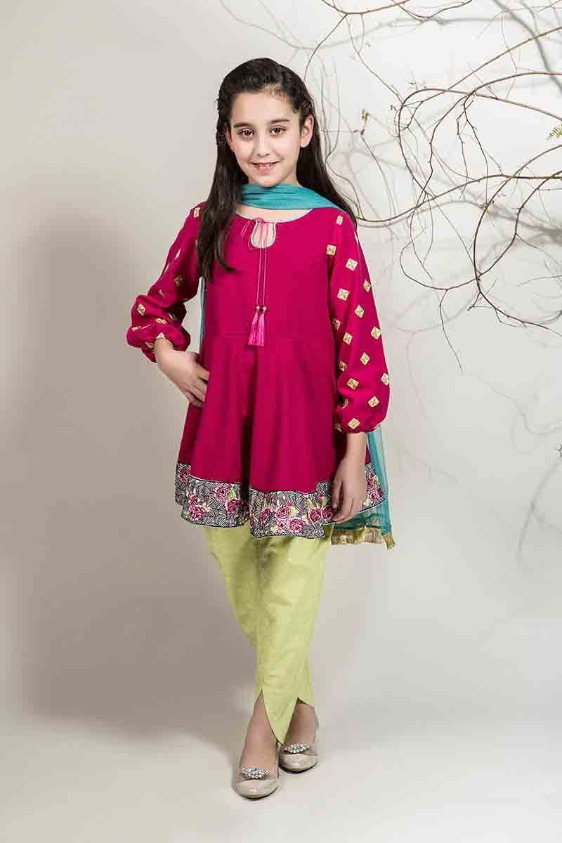 Best shocking pink with yellow pajama and green dupatta ...