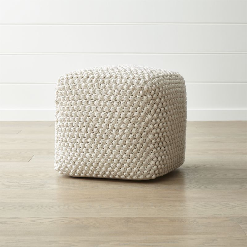 Pleasant Buco 20X20 Off White Pouf In 2019 D2O Sb House Pouf Gmtry Best Dining Table And Chair Ideas Images Gmtryco