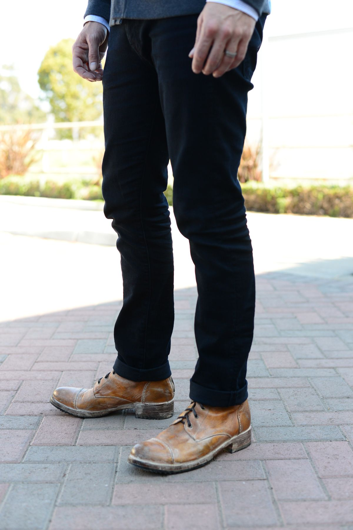 7 For All Mankind skinny jeans + Bed Stu Protege boots