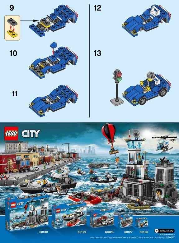 City Sports Car Lego 30349 Lego Instructions Pinterest