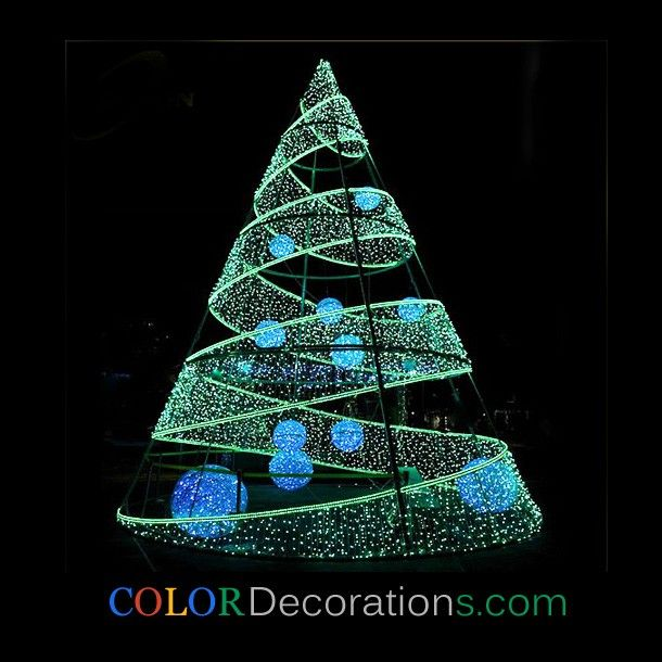 wholesale cd tr111 led lighted christmas tree led lighting tree for xmas party wedding holiday decorations