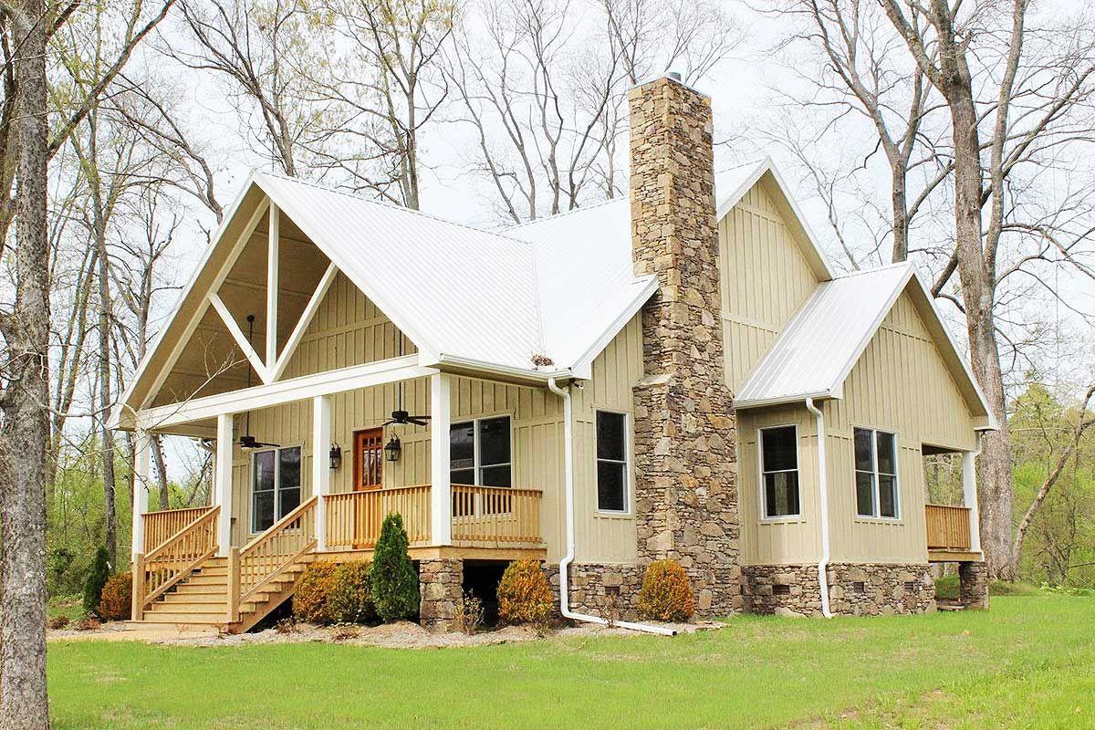 Cottage Escape with 3 Master Suites Rustic house plans