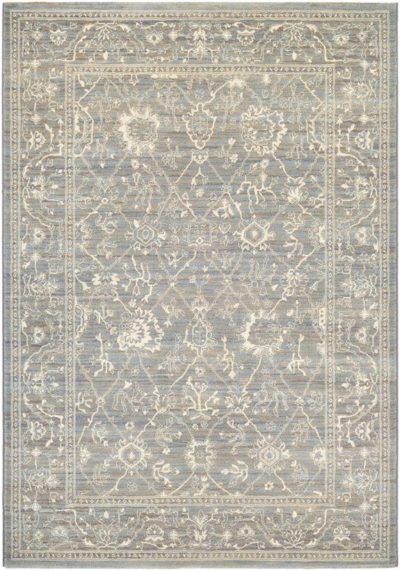 Couristan Everest Persian Arabesque Charcoal Ivory Area Rug Couristan Area Rugs Handmade Area Rugs