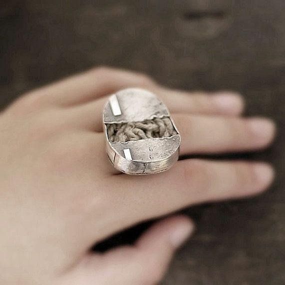 The ring of the \'soul\' • sterling silver • adjustable ring • xxl ...
