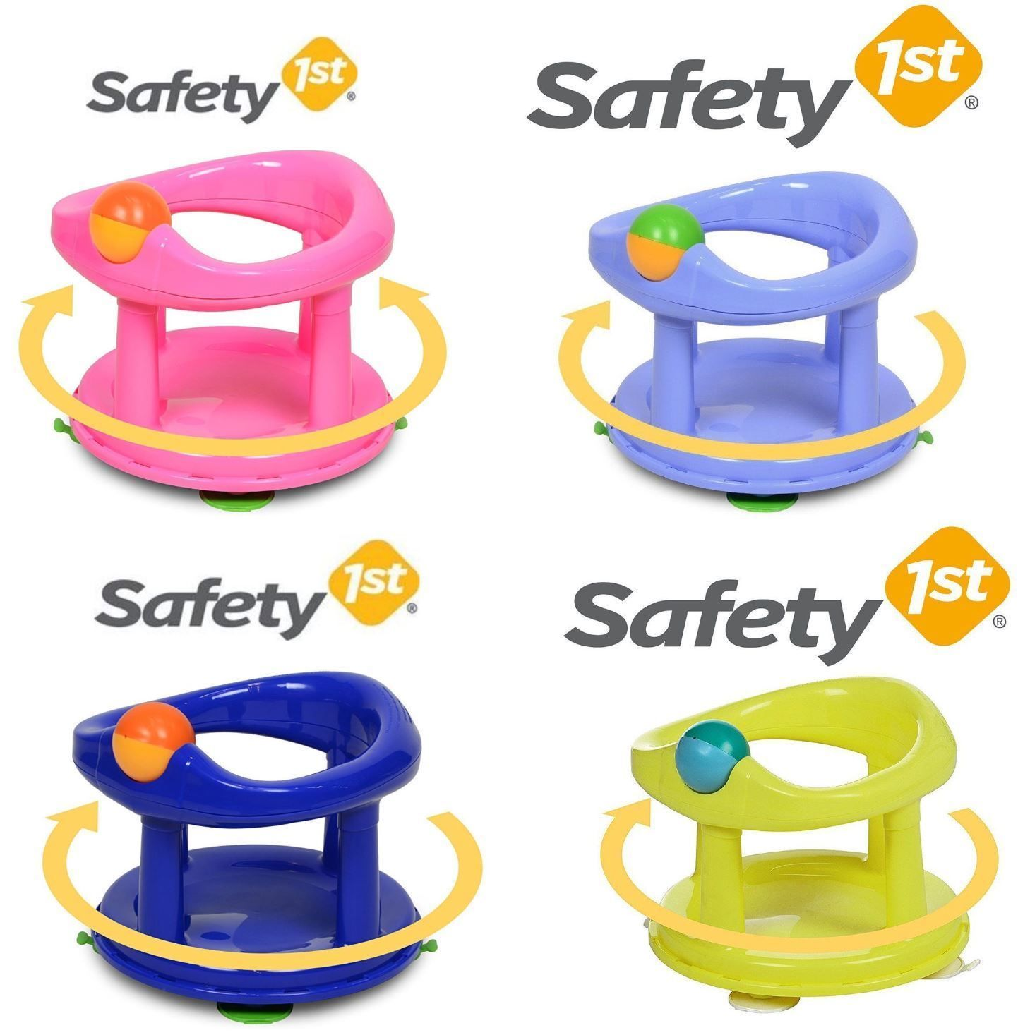 Safety First Swivel Baby Bath Tub Rotating Safety 1st Ring Seat New ...
