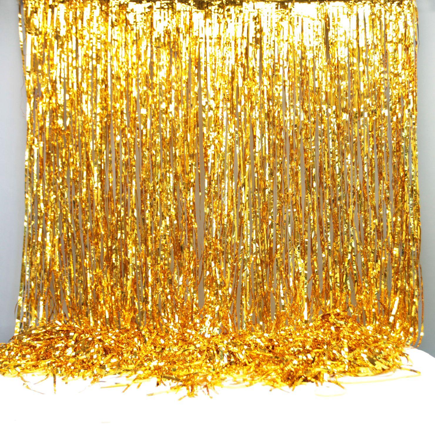 Gold Foil Party Curtain Backdrop Decoration Gold Foil Party