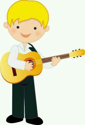 Minus Nino Tocando Guitarra Musical Caricaturas De Ninos Dibujos Para Ninos Oficios Y Profeciones