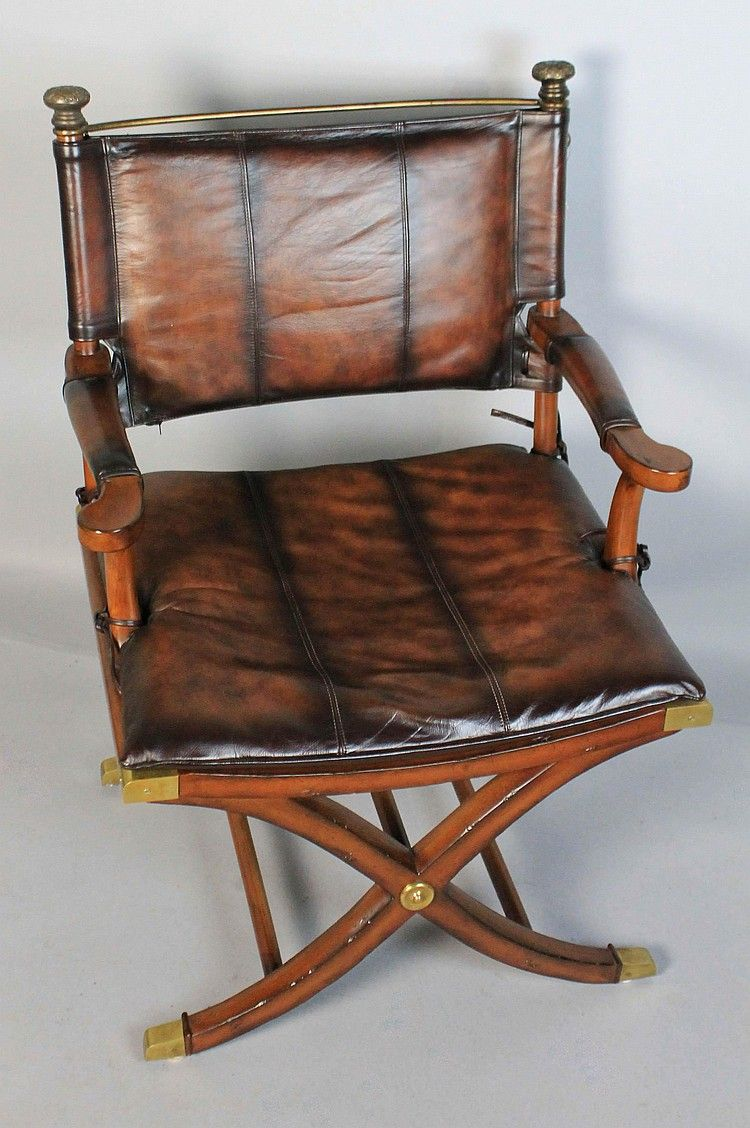 thomasville leather chair dining cushions non slip hemingway collection campaign style mahogany and