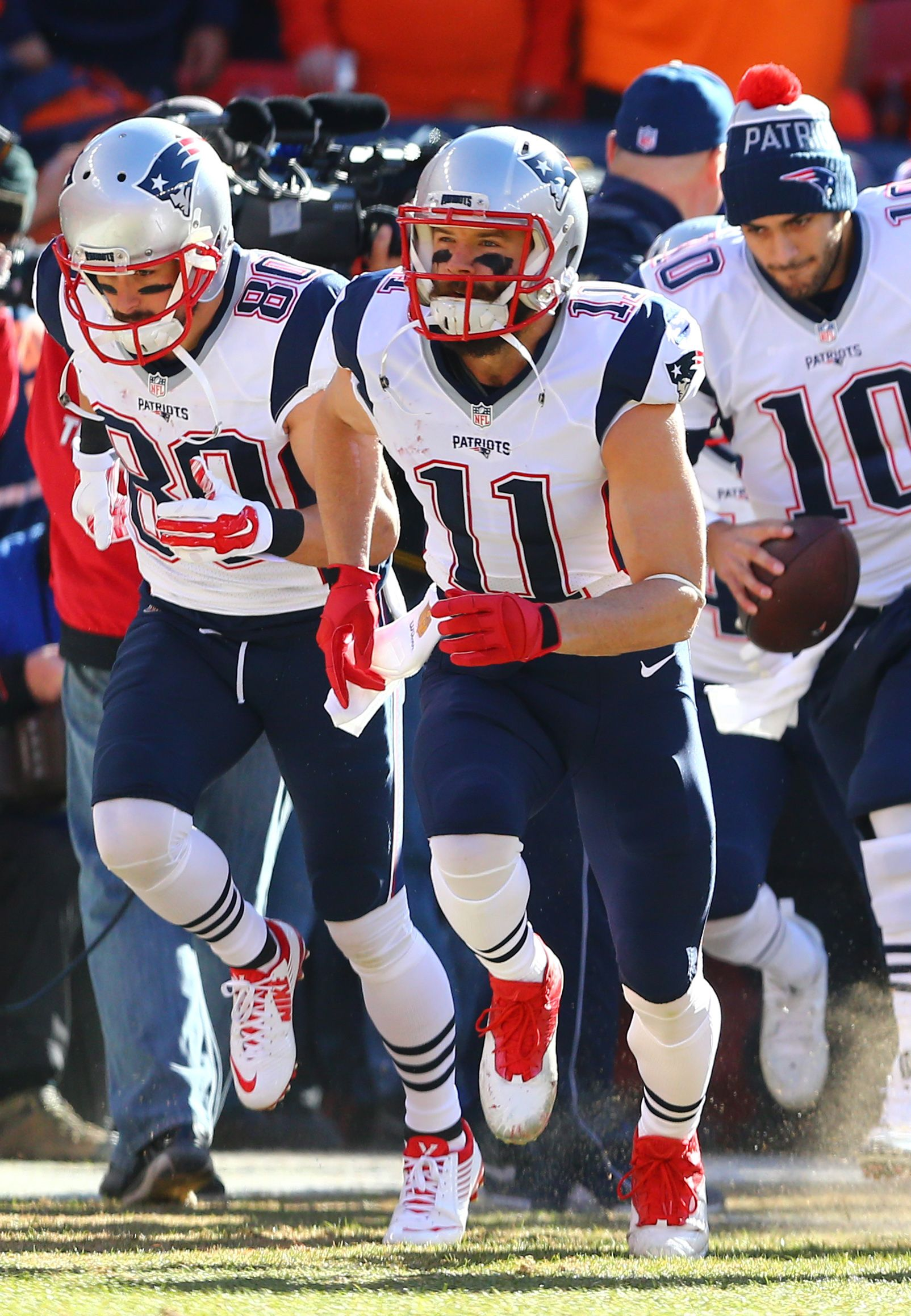 Jan 24 2016 Denver Co Usa New England Patriots Wide Receiver Julian Ed New England Patriots New England Patriots Merchandise New England Patriots Football