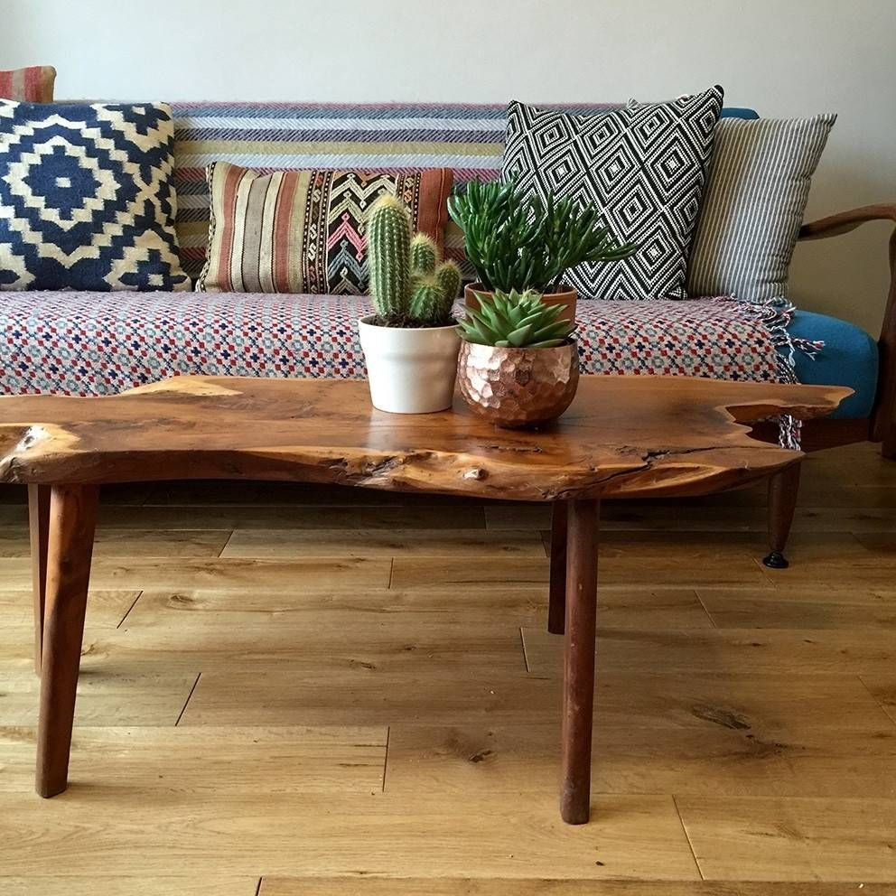Image Result For Boho Coffee Table Coffee Table Live Edge