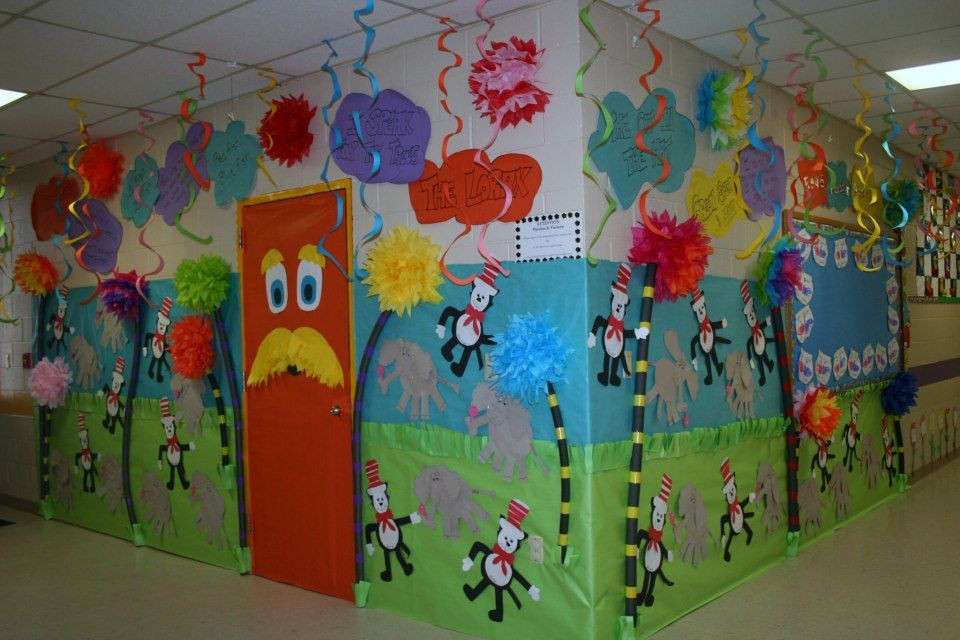 Craft Ideas For Classroom Decoration : Classroom dr seuss door hallway decoration