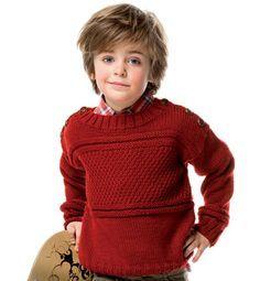 Modèle pull épaules boutonnées - Modèles tricot enfant - Phildar | Modele tricot enfant, Modele ...