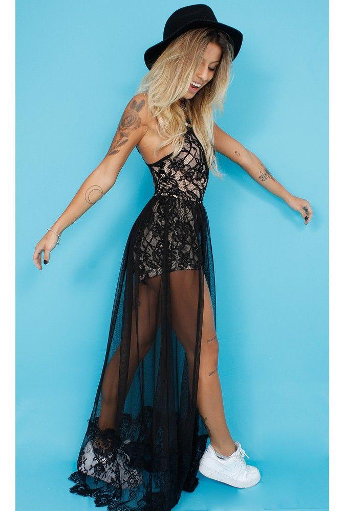 37b80d2f9 Macaquinho Renda com Transparência - fashioncloset   #MY (IMAGINARY ...