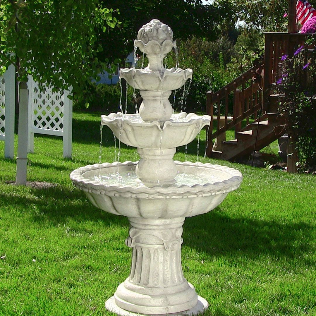 Patio outdoor or indoor cascading water fountain for garden yard