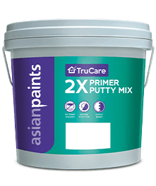Use Trucare 2x Primer Putty Mix Since It Helps Avoid The Need Of A Primer Due To Which There Are Significant Savin Asian Paints Interior Wall Paint Wall Primer