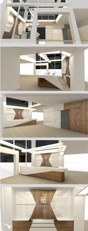 Proyecto De Interiorismo Lobby Alcald A De Fontib N Oficina  # Muebles Fontibon
