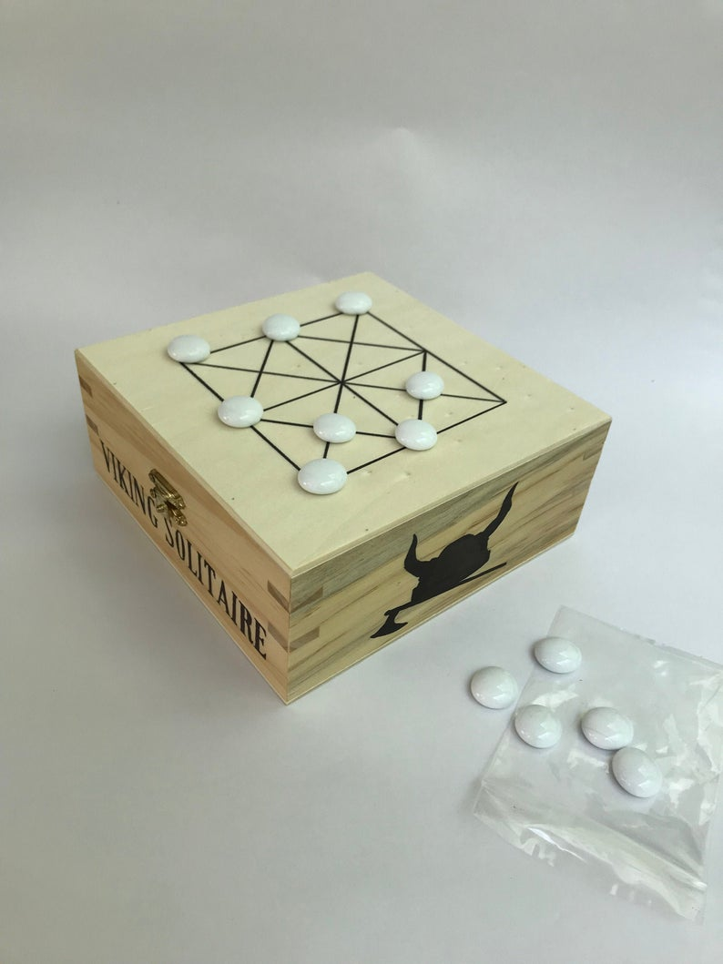 Viking Solitaire Ancient Travel Board Game Box 1