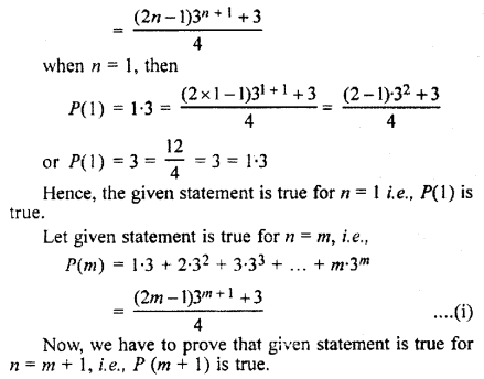 For Class 11 Maths Chapter 4 Principle Of Mathematical Induction Ex 4 1 Mathematical Induction Studying Math Math