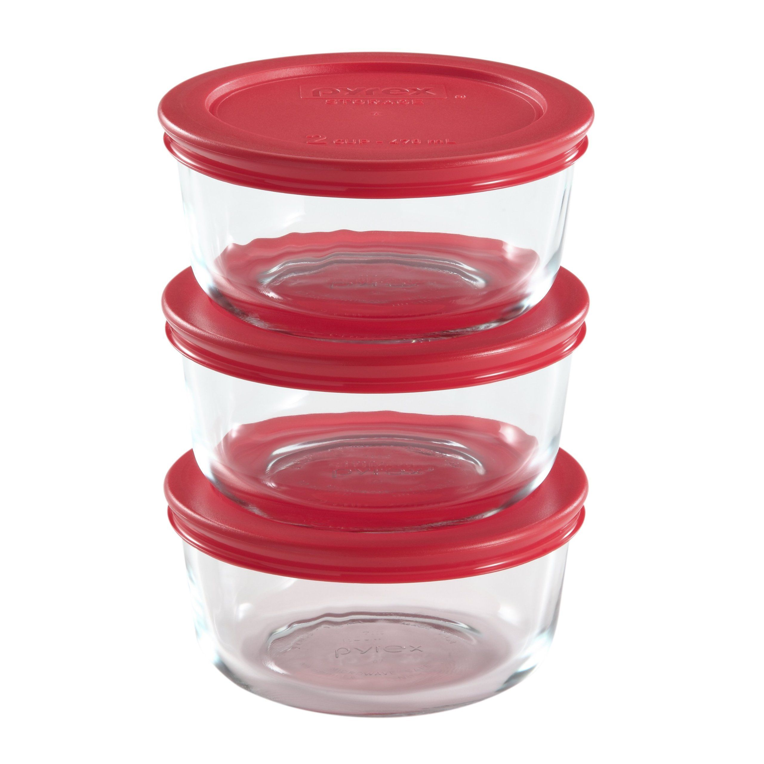 Pyrex 6 Piece Glass Food Storage Set With Lids Glass Food Storage Containers Glass Food Storage Pyrex Storage