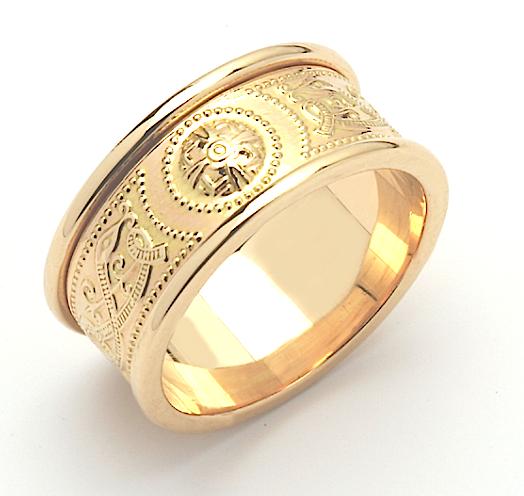 Celtic Shield Wedding Ring Irish Jewel Celtic Wedding Rings Irish Wedding Rings Wedding Rings