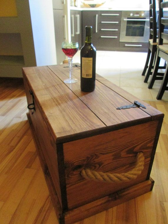 Barn wood trunks chests steamer trunk trunk coffee for Small storage trunk coffee table
