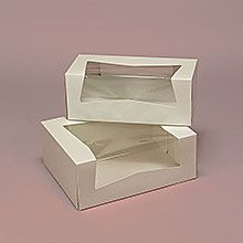 Decorative Bakery Boxes Pastry Box With Wrap Around Window  Packaging Inspiration