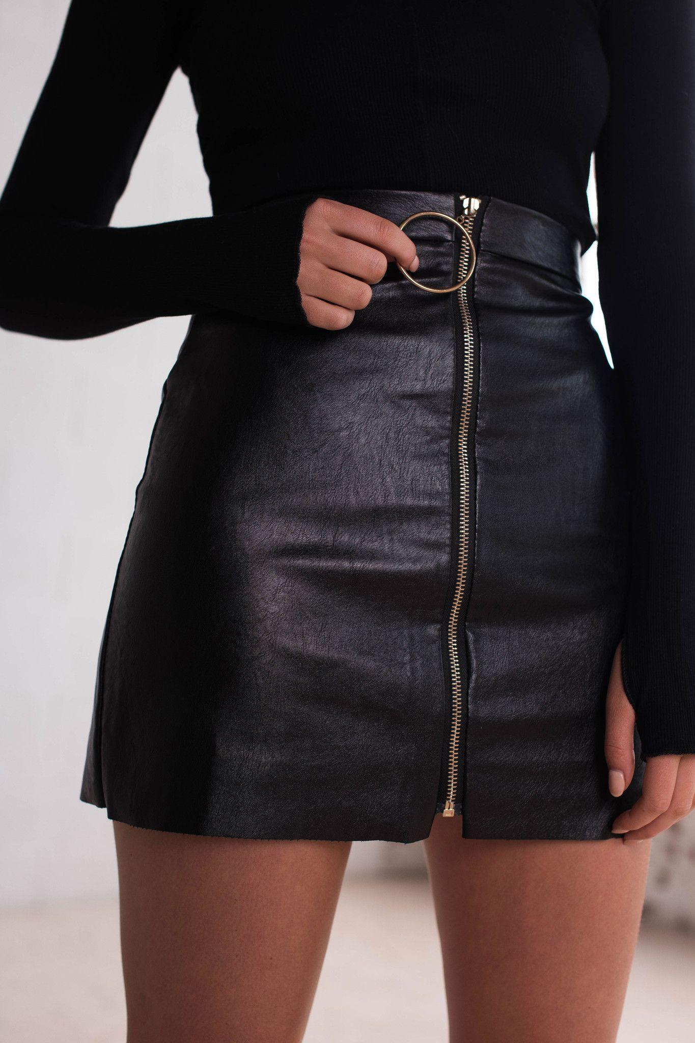 b6fbbca28 Stone Fox Skirt | Black - Women's Clothing & Fashion Online – Style ...
