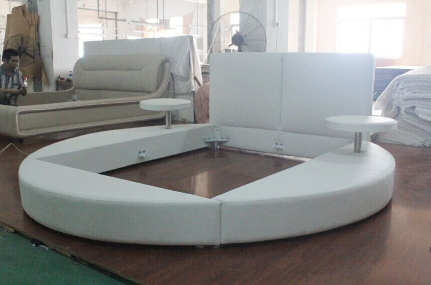 3022# round platform bed king size round bed on sale | Camas ...