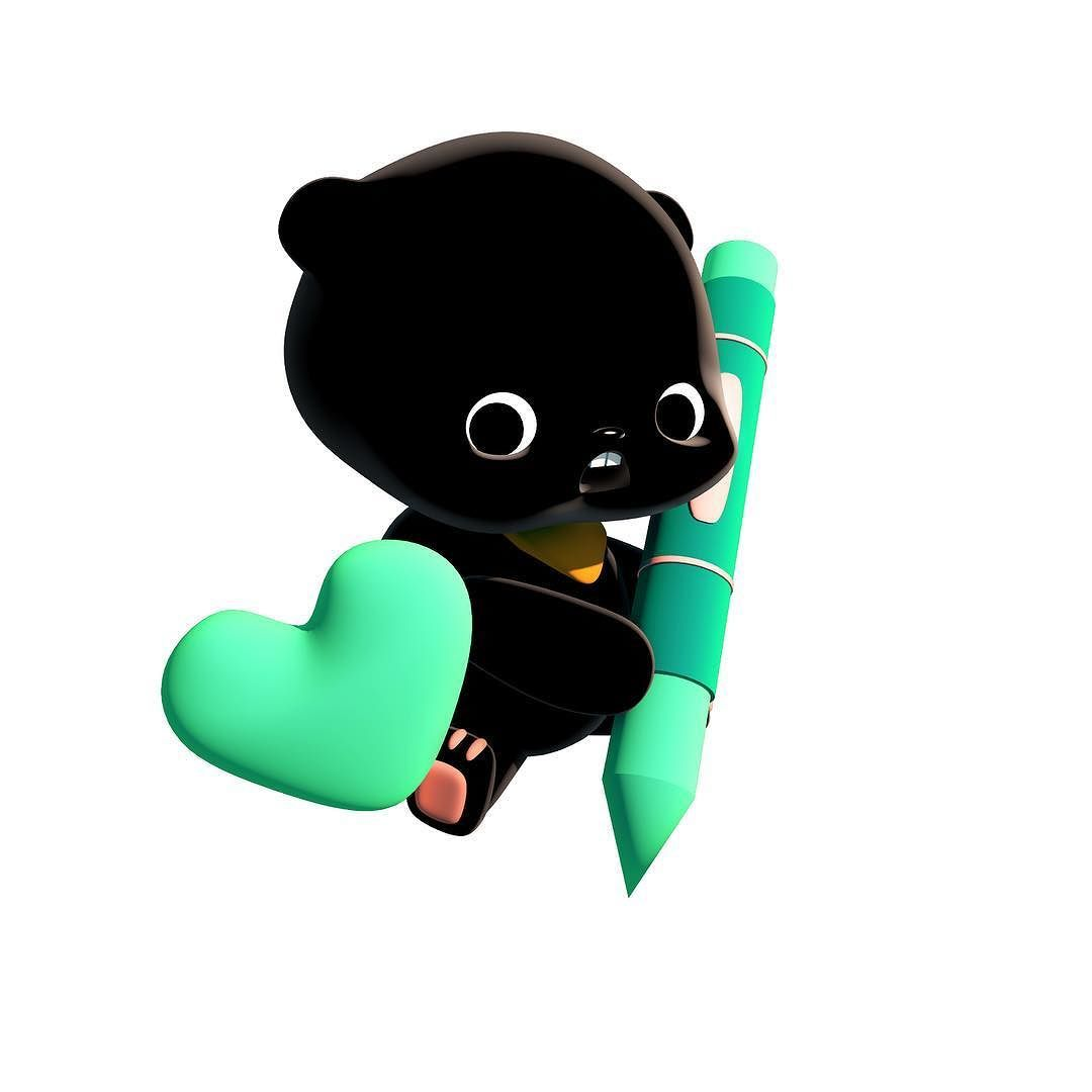 hi im baby toy bear. :) http://ift.tt/1MqQEmR  #bear #black #baby #character #line #stickers #download #cute #lovely #followup #sweet #c4d #cinema4D #characterdesign #babybear #toy #colorful #sns #chating #loveme #design #かわいらしい #キャラクター #ステッカー #クマ #おさない #라인스티커 #귀여운곰 #애기곰 #캐릭터 -  http://ift.tt/1MqQEmR by uglymugglers