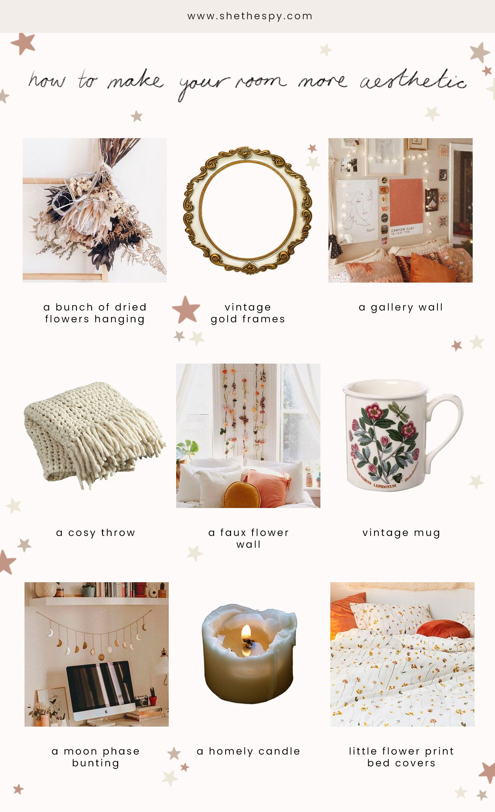 How To Make Your Room More Aesthetic She The Spy Make It Yourself Aesthetic Bedroom Room