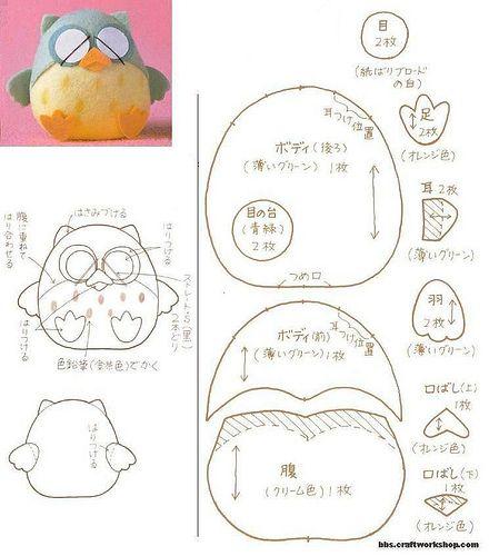 Corujita  Owl Owl Patterns And Free Pattern