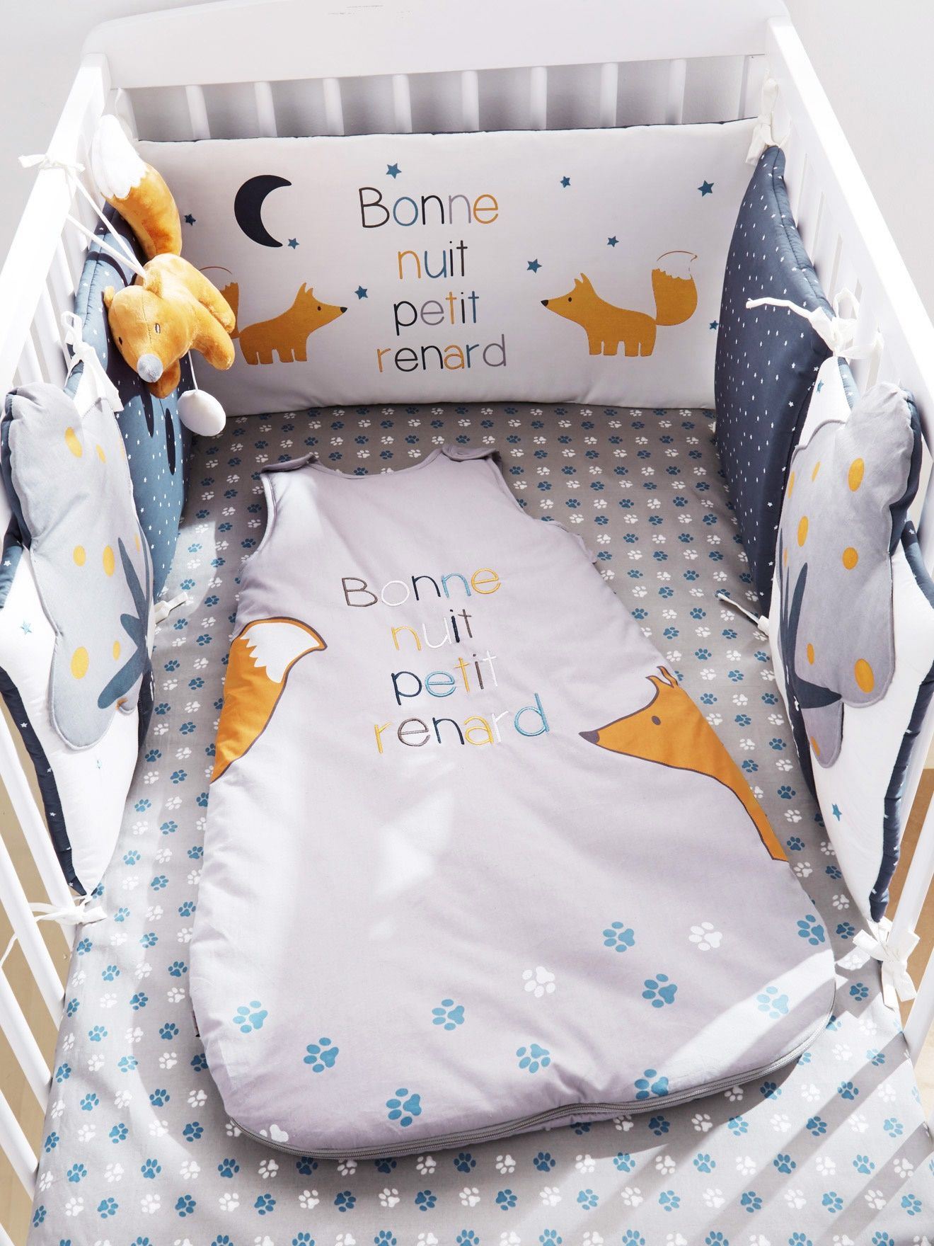 Tour de lit bébé Petit Renard bleu nuit - Vertbaudet | business ...