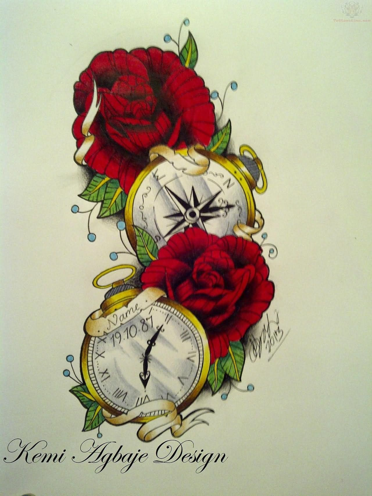 Red Roses Tattoo Design Tattoo Gallery Rose Tattoos Red Rose Tattoo Watch Tattoo Design