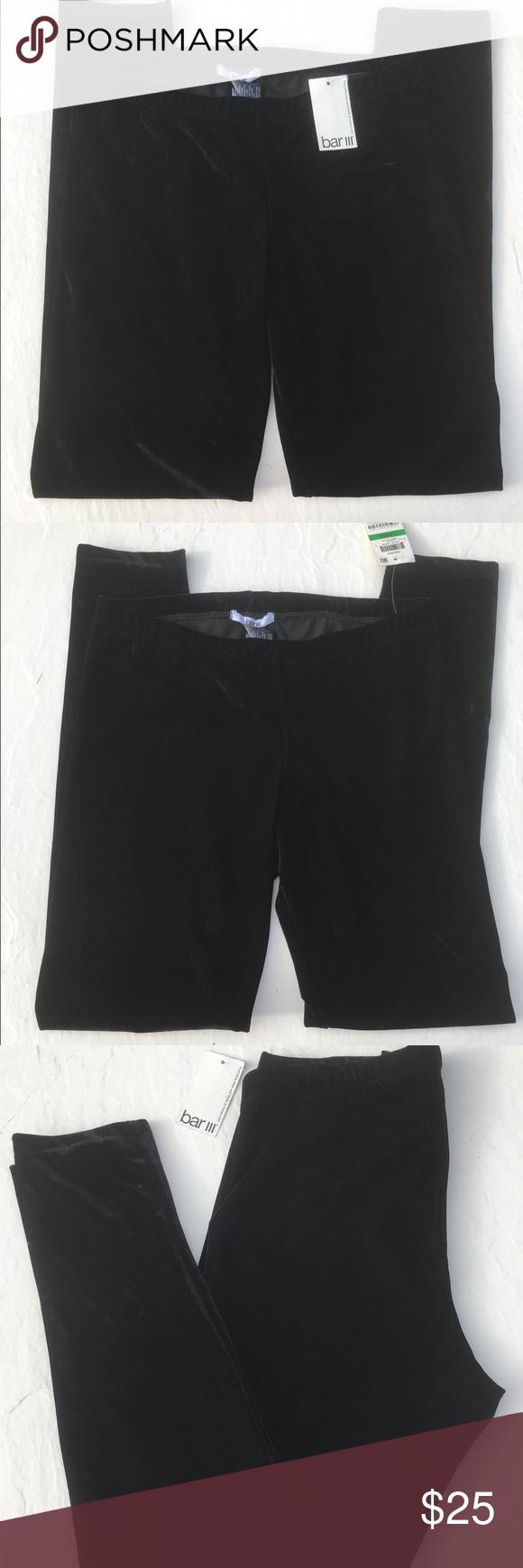 Bar III Deep Black Velvet Leggings - XL Bar III Deep Black Velvet Leggings - XL Bar III Pants Leggings