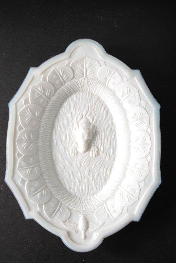 Antique Victorian Milk Glass Platter by LunaMarket on Etsy, $70.00