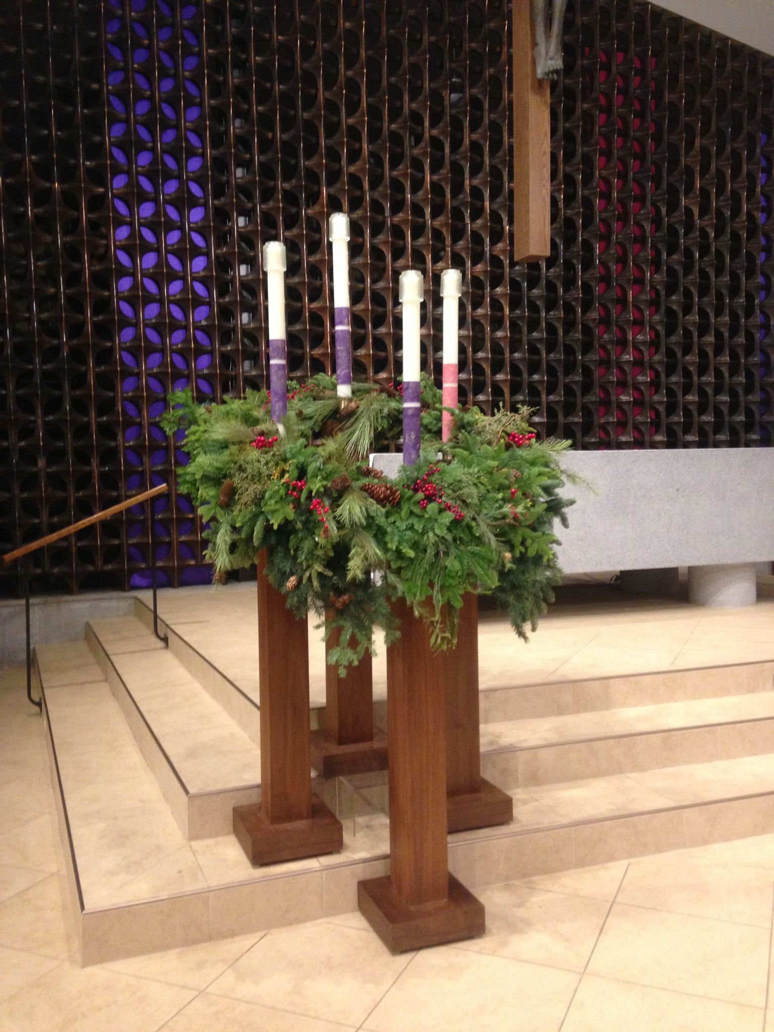 St john fisher advent wreath church decor pinterest for Advent decoration ideas