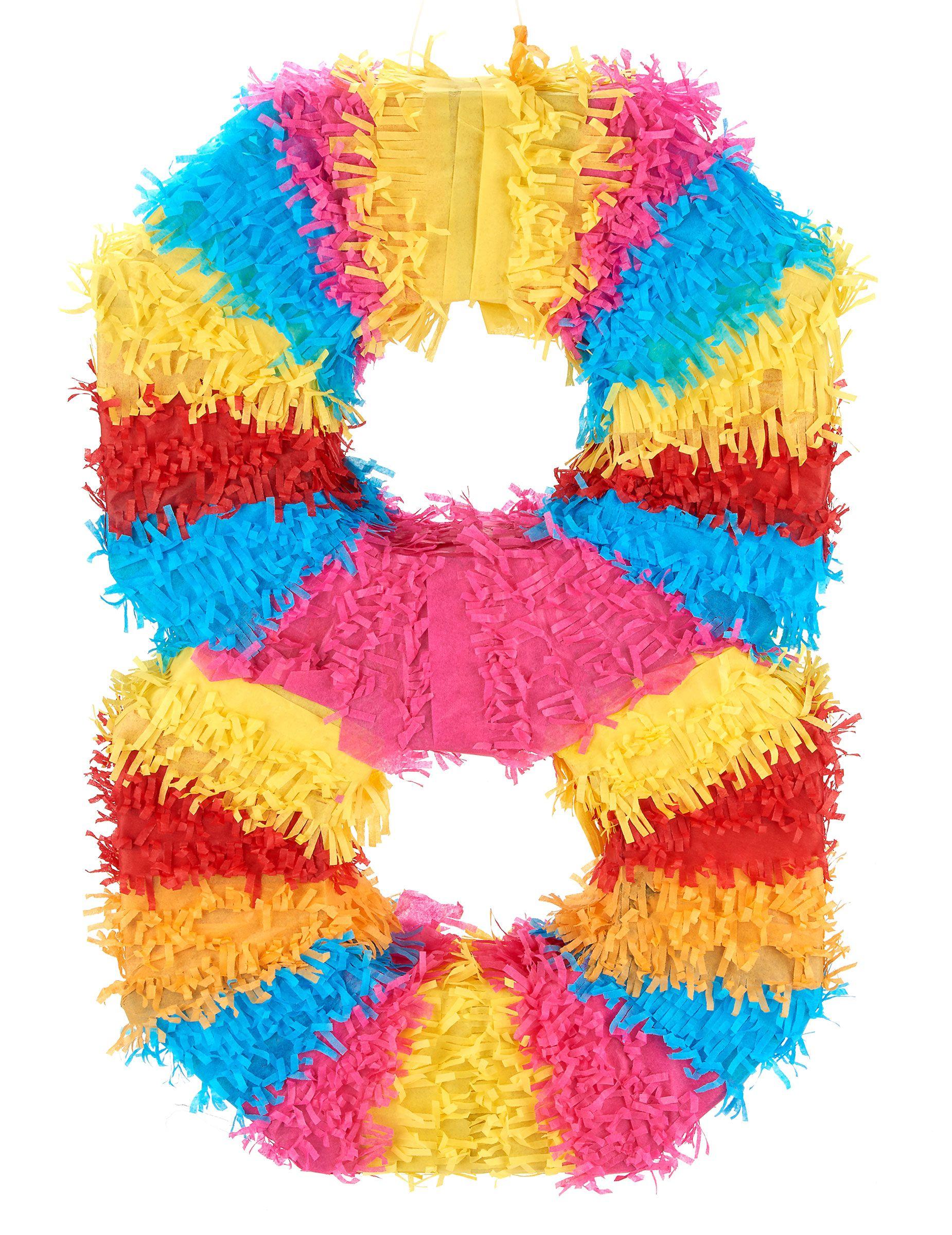 Pi ata n mero 8 esta pi ata multicolor representa el n mero 8 mide 55 x 25cm es el art culo - Pinatas de cumpleanos ...